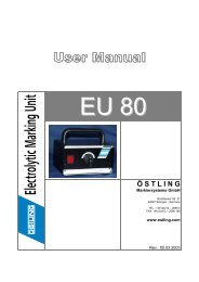 MiniEtch EU80 user manual - Trend Product Marking Systems ...