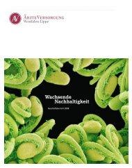 Geschäftsbericht 2008 - Ärzteversorgung Westfalen-Lippe