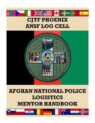 CJTF PHOENIX ANSF LOG CELL AFGHAN NATIONAL POLICE ...