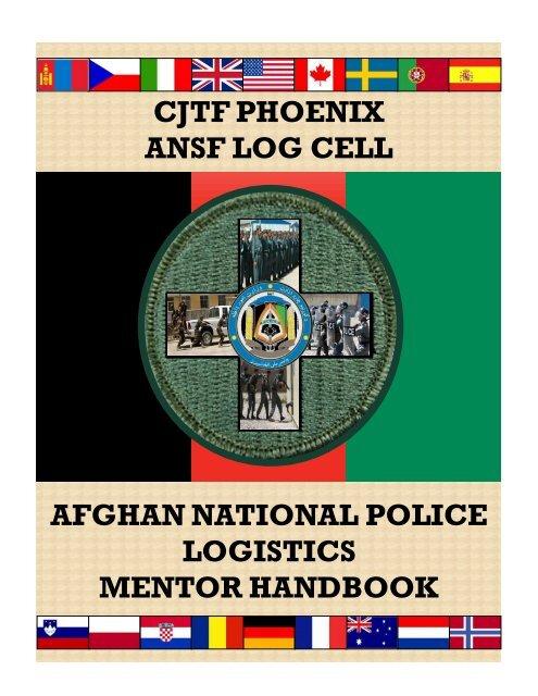 CJTF PHOENIX ANSF LOG CELL AFGHAN NATIONAL POLICE