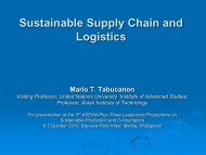 Sustainable Supply Chain and Logistics - Environmental ...