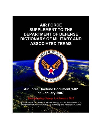 Air Force Supplement to the Department of Defense - Federation of ...