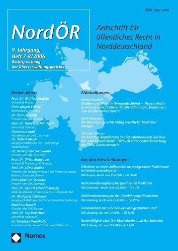 NordOER 06 7-8 - Zeitschrift für Öffentliches Recht in ...