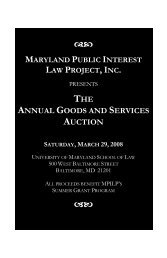 2008 Auction Catalog - University of Maryland School of Law