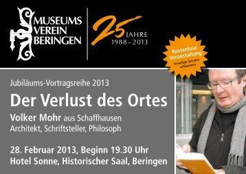 Der Verlust des Ortes - Museum Beringen