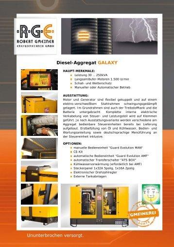 Diesel-Aggregat GALAXY - RGE Robert Gmeiner Energietechnik ...