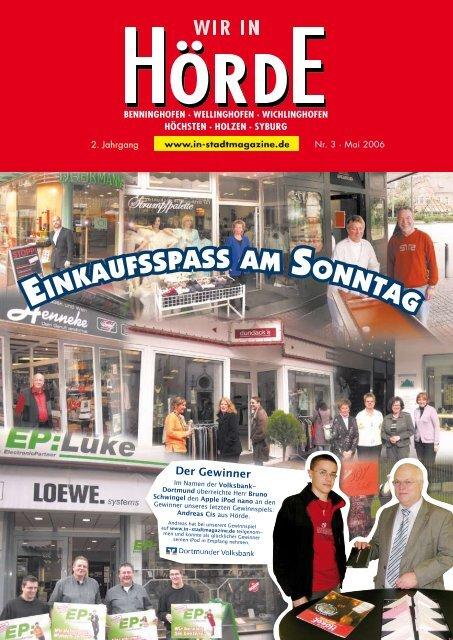 Einkaufsspass am sonntag - Dortmunder & Schwerter Stadtmagazine