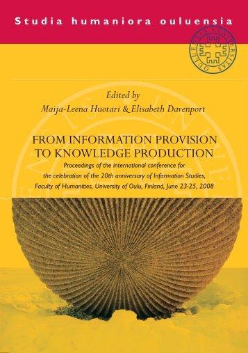 Huotari & Davenport (eds.) - Oulu