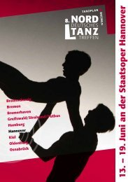 das komplette Programm - Niedersächsische Staatstheater Hannover