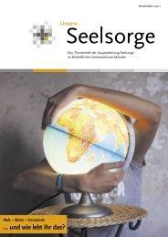 Unsere Seelsorge November 2011 zum Thema: Welt - Liudgerhaus