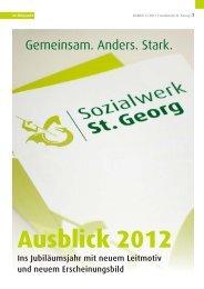 """""""Gemeinsam. Anders. Stark."""" im """"Blickpunkt"""" - Sozialwerk St. Georg"""