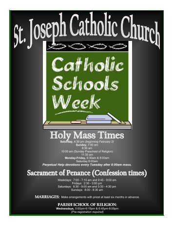 Bulletin - St. Joseph Catholic Church Imperial