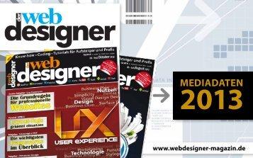 Mediadaten (PDF) - Der Webdesigner - das Magazin