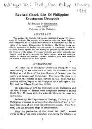 / 9 Revised Check List Of Philippine Crustacean Decapods
