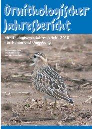 -Jahresbericht 2010 - Ornithologische Arbeitsgemeinschaft Hamm