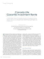 canada Life Garantie Investment rente - ITA
