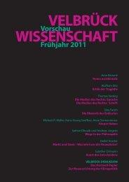 Vorschau Frühjahr 2011 - Velbrück Wissenschaft