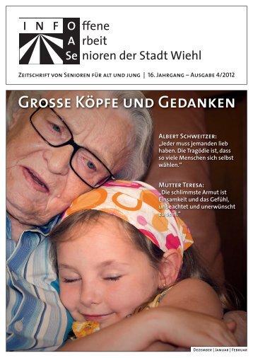 OASe - Zeitschrift von Senioren für Alt und Jung - Stadt Wiehl