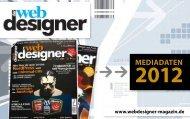 Mediadaten - Der Webdesigner - das Magazin