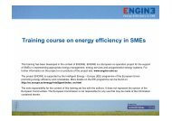 Training course on energy efficiency in SMEs - engine-sme.eu