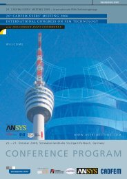 conference program - ANSYS Conference & CADFEM Users´ Meeting