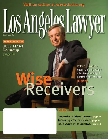 Los Angeles Lawyer March 2008 - Los Angeles County Bar ...
