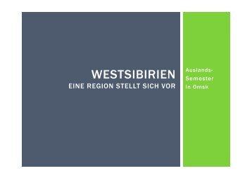 WESTSIBIRIEN - Universität Vechta
