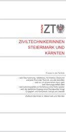 Folder - Kammer der ZiviltechnikerInnen für Steiermark und Kärnten