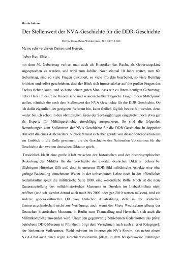 Martin Sabrow - Zentrum für Zeithistorische Forschung Potsdam