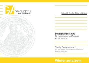 Studienprogramm - Graduierten-Akademie - Friedrich-Schiller ...