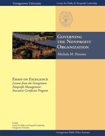 Governing the Nonprofit Organization - Center for Public & Nonprofit ...