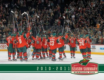 2010-11 Season Summary - Minnesota Wild