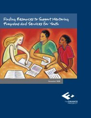 Finding Resources to Support Mentoring Programs and Services for ...