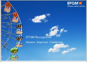 EFQM recognition schemes motivate your people to drive