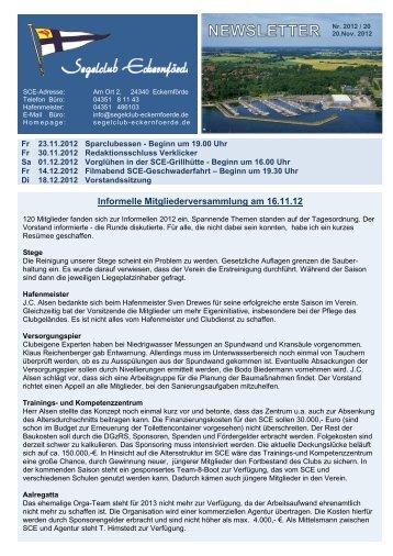 Nr.20 - 20.11.2012 - Segelclub-Eckernförde