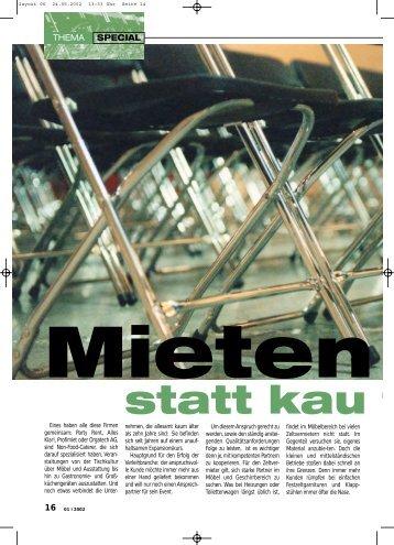 Zelt und Co 2   2002   mo&co Verlag   Mieten - Party Rent