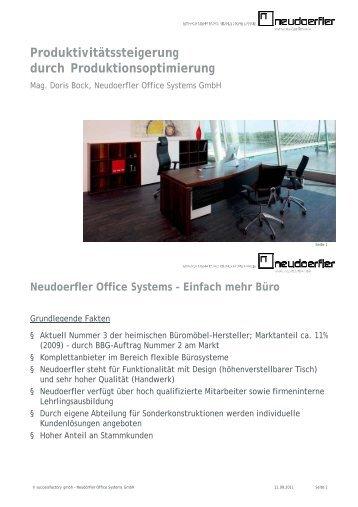 2011 Neudoerfler - Produktivitätssteigerung durch ... - successfactory