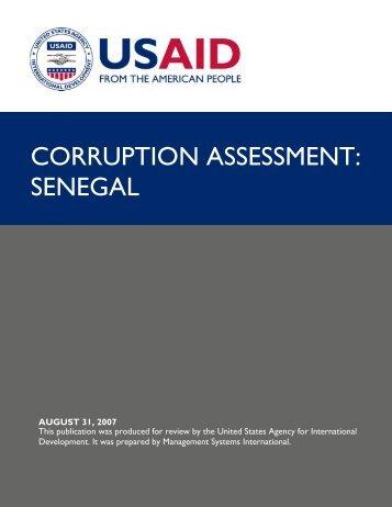 Corruption Assessment: Senegal 2007