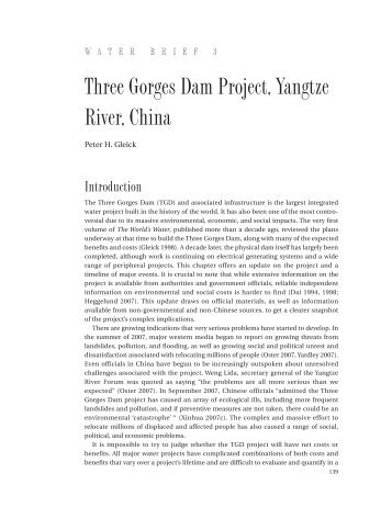 Three Gorges Dam Project, Yangtze River, China - The World's Water