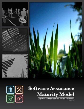 Open SAMM - Software Assurance Maturity Model