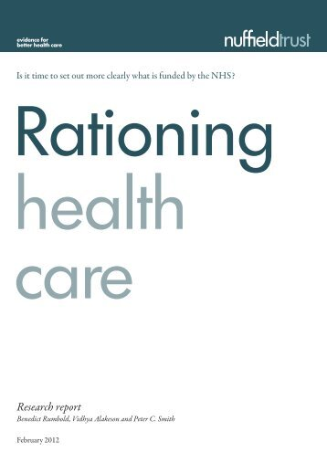 Rationing health care report (final):NT New briefing - The Nuffield Trust