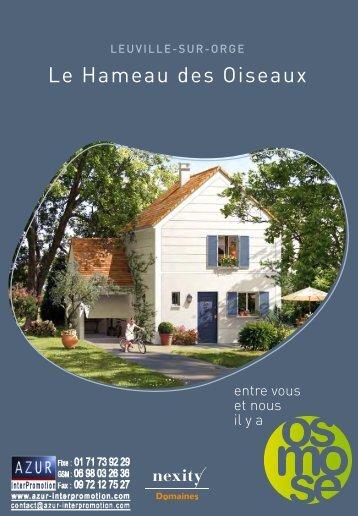 91 Leuville sur Orge - Hameau des Oiseaux - Azur InterPromotion