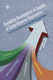 Capability Development in Support of Comprehensive Approaches