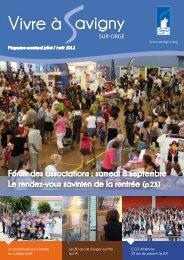 Forum des associations : samedi 8 septembre ... - Savigny-sur-Orge