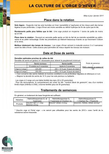 Les interventions de sortie hiver chambre d 39 agriculture for Chambre agriculture mayenne