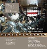 Jahresprogramm Organeum - Ostfriesische Landschaft