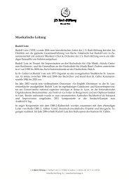 Mitwirkende (PDF) - J. S. Bach-Stiftung