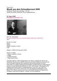 Musik aus dem Schwalbennest 2009 (PDF - Trierer Orgelpunkt