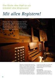Mit allen Registern! - PartiTouren Niedersachsen