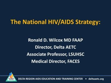 The National HIV/AIDS Strategy & Implications for